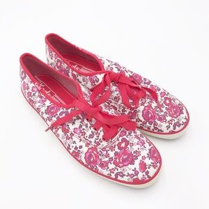 Keds Women's Red & Pink Floral Classic Sneakers